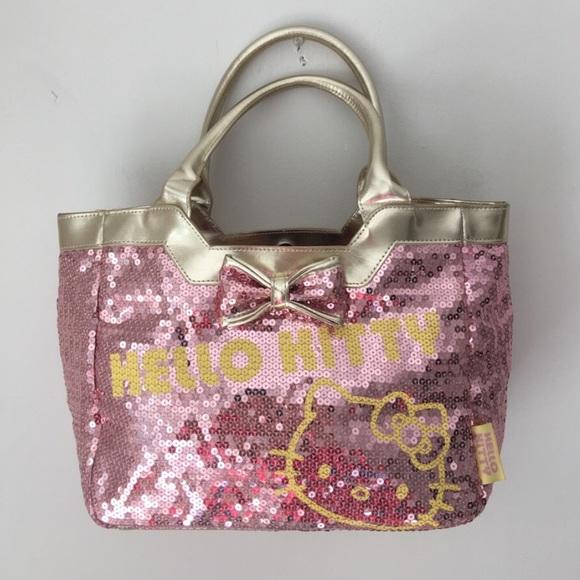 84cba494b Hello Kitty Handbags - Hello Kitty Pink Sequin Tote RARE